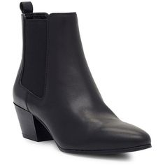 Sam Edelman Reesa Leather Booties (1.250 NOK) ❤ liked on Polyvore featuring shoes, boots, ankle booties, black, black pull on boots, leather boots, sam edelman booties, leather ankle booties and leather booties