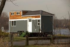 A modern 250 square feet tiny house on wheels in South Elgin, Illinois. Built by Titan Tiny Homes. Tiny House Company, Tiny House Blog, Tiny House Swoon, Tiny House Plans, Tiny House On Wheels, House Blogs, Tiny Apartments, Tiny Spaces, Tiny House Movement