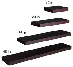 "Cadence Floating Shelf 48"", Espresso - contemporary - wall shelves - Shop Chimney"