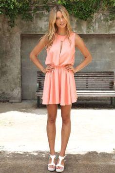 sago skirt pink coral dress