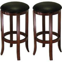 "Swivel Bar Stools 30"" Chair Seat Comfort Wood Furniture Kitchen Counter Stool"