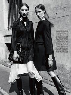 Manuela Frey, Alisa Ahmann by Claudia Knoepfel & Stefan Indlekofer for Dior Magazine #6 2