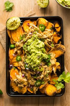 Paleo Recipes, Mexican Food Recipes, Dinner Recipes, Cooking Recipes, Delicious Recipes, Sweet Potato Nachos, Sweet Potato Slices, Sweet Potato Chips, Paleo Whole 30