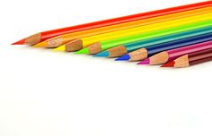 Rainbow Art Supplies Photograph - Rainbow Colored Pencils by Blink Images Rainbow Songs, Love Rainbow, Rainbow Wall, Rainbow Colors, Coloured Pencils, Art Pages, Wood Print, Art For Sale, Design Elements