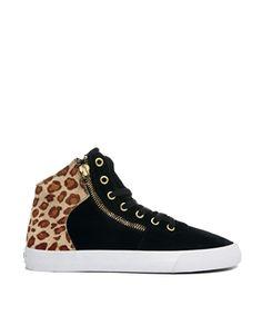 Supra A-Morir Cuttler Cheetah Print Hi Top Sneakers