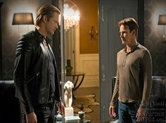 """HQ photo from True Blood episode 7.09 """"Love Is To Die."""" Bill explains his decision to Eric and asks for his help."""