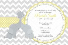 Yellow and Turquoise with Grey Chevron Mom and Dad Elephant Little Boy Baby Shower Invitation and FREE Thank You Card Printable DIY Fiesta Baby Shower, Grey Baby Shower, Gender Neutral Baby Shower, Baby Shower Parties, Baby Shower Themes, Baby Shower Gifts, Shower Ideas, Mom And Baby Elephant, Elephant Baby Showers