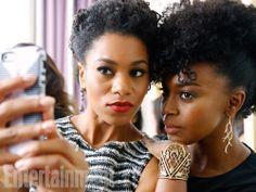 nattygirls: Kelly McCreary and Jerrika Hinton in what may be my favorite photo of a selfie ever.
