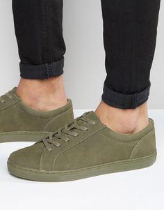 ASOS BRAND ASOS Lace Up Sneakers in Khaki | ASOS saved by #ShoppingIS