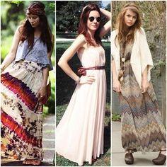Fashions moda Vestidos Hippie Chic