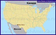 Эль-Пасо на карте США