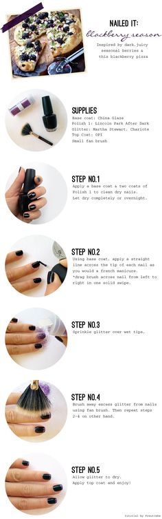 Blackberry Season how-to-manicure  From June 12 2012 blog