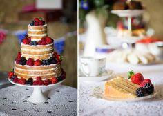 1950s Farm Wedding, polka dot bridesmaids dresses (2012, Linda Scannell Photography)