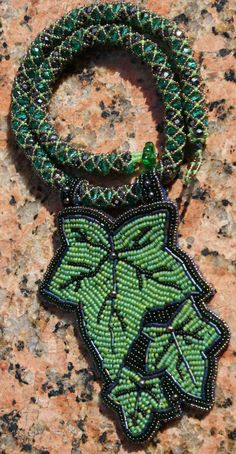 Ivy bead embroidery