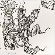 Dreamy Zentangle-Inspired-Art • enioken.com