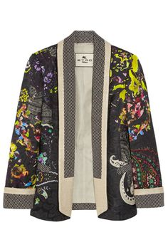 Etro Floral-Print Jacquard Blazer