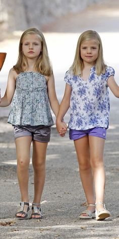 8/5/2013 - Princess Leonor & Infanta Sofía of Spain | Leonor is in line to be the next Queen of Spain unless she gets a brother.