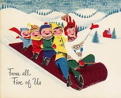 Love these ~Vintage Christmas Printables. These remind me of Christmas card from when I was a kid.