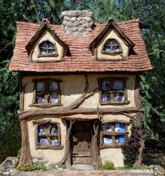 Hi Friends, this month I'm going to show you how I turned this little paper maché box into a cottage and something more - It was created for...