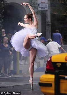 ballerina dances down the streets of manhattan