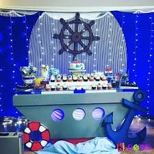 Imagen relacionada Baby Shower Themes Neutral, Baby Girl Shower Themes, Baby Shower Parties, Baby Boy Shower, Baby Shower Decorations, Birthday Decorations, Sailor Party, Sailor Theme, Cruise Theme Parties