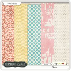Free Dare Paper Pack  http://scrapyrusdesigns.blogspot.ca/2014/01/dare-new-kit-and-new-store.html