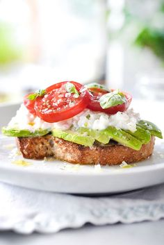 Cottage cheese subs in for mozzarella in this healthy avocado toast perfect for a favorite breakfast, lunch and snack, plus 10 more toasts to try.