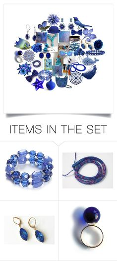 """Blue #3:59"" by crystalglowdesign ❤ liked on Polyvore featuring art"