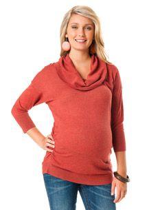 3/4 Sleeve Dolman Sleeve Maternity Sweater