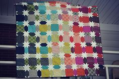 chicopee star quilt -- easy with Marti's Sashing Stars tool set!