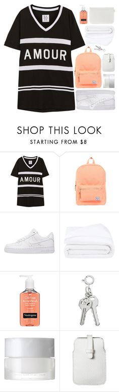 """THE BAD KIND OF LOVE"" by constellation-s ❤ liked on Polyvore featuring Zoe Karssen, Herschel Supply Co., NIKE, Frette, Neutrogena, SUQQU, Mossimo and Nine West"