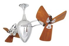 chrome with wooden blades. Contemporary Ceiling Fans, Modern Ceiling, Personal Fan, Light Architecture, Centre Pieces, Knobs And Pulls, Garden Trowel, Light Decorations, Gold