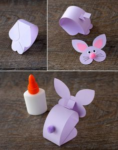 Paper Bobble Head Bunny Craft