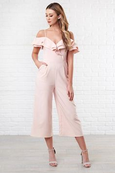 e85e026022c This Cute Off The Shoulder Jumpsuit Is A Perfect New Addition To Your  Wardrobe! Nanamacs