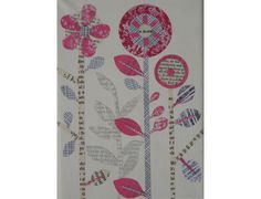mini collage on canvas - 'Elemental Pink' www.johnsonstudio.co.uk