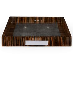Luxury Designer Art Deco Ebony Macassar & Shagreen Coffee Table Tray, so beautiful, inspire your friends and followers interested in luxury interior design, with new trending accents from Hollywood courtesy of InStyle Decor Beverly Hills, Luxury Designer Furniture, Lighting, Mirrors, Home Decor & Gifts, over 3,500 inspirations to choose from and share with our simple one click Pinterest Pin button enjoy & happy pinning