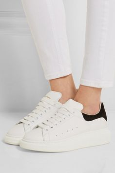 Pin for Later: It's Adidas vs. Designer in This Shoe Showdown Alexander McQueen Wedge Sneakers Alexander McQueen Wedge Sneakers (£360)