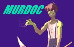 Murdoc Gorillaz, Gorillaz Art, Melancholy, Cool Bands, Feel Good, Religion, Lol, Fan Art, Songs