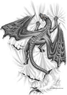 Dragon Climbing Tattoo - Images for Tatouage Oriental Dragon Tattoo, Dragon Tattoo Drawing, Tattoo Drawings, Dragon Tattoos For Men, Dragon Tattoo Designs, Tattoos For Women, Wolf Tattoos, Body Art Tattoos, Animal Tattoos