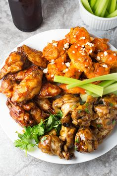 Instant Pot Chicken Wings 3 Ways. Easily cooked in the Instant Pot. Flavored with 3 wonderful sauces - Buffalo Wings, Teriyaki Wings, and Barbecue Wings.