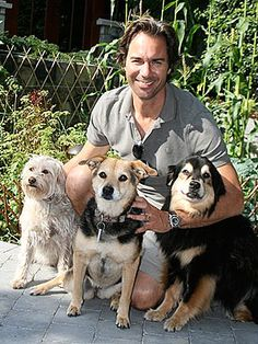 Eric McCormack Proud Dad of Three Rescue Dogs : Scruffy, Katie & Molly.