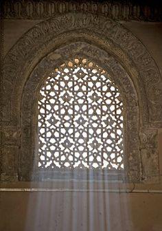 Egypt, Cairo, ninth century mosque of Ahmad Ibn Tulun, Abbasid governor of Egypt, 868-84, window in main prayer hall