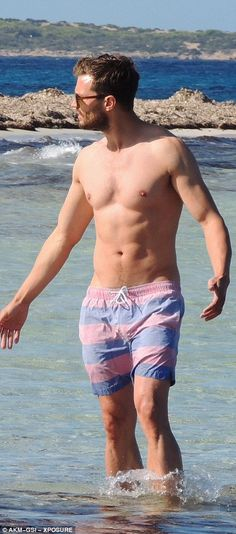 Looking good: Jamie started out his career as a Calvin Klein underwear model and it wasn't hard to see why