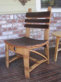 Dining Chair made from Wine Barrel Staves by Barreldecor on Etsy