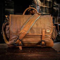 bccb0841f110 Dakota Waxed Canvas Messenger Bag