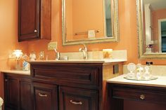 1000 images about bathroom designs we love on pinterest for Salmon bathroom ideas