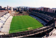 """""""Estádio de Sarrià"""". Foi demolido. #Barcelona, Espanha."""