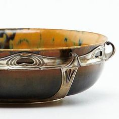 Auguste Delaherche - Mounted Bowl. Find this and other ceramics at CuratorsEye.com.