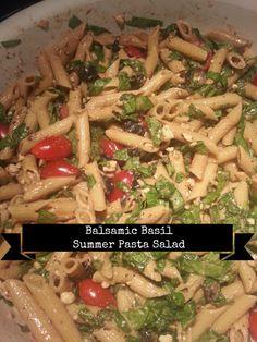 Balsamic Basil Summer Pasta Salad
