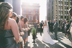 Photo from Abby + BJ | WEDDING! collection by Greybird Galleries, LLC columbus ohio wedding photography, renaissance downtown, rooftop wedding